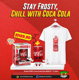 [STAY COOL WITH COCA COLA BUNDLE] - Funko Pop! Coca-Cola - Cola Can (Diamond Glitter) [Exclusive] + Coca Cola T-Shirt - Sheldonet Toy Store