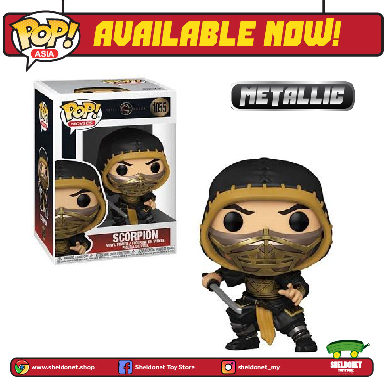 Pop! Movies: Mortal Kombat (2021) - Scorpion [Metallic] - Sheldonet Toy Store