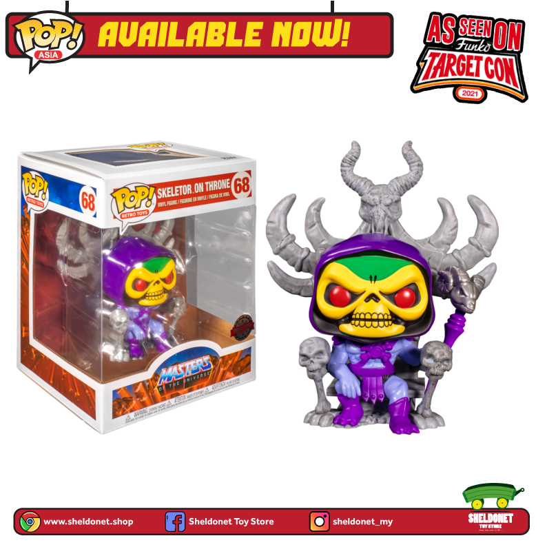 Pop! Deluxe: Masters Of The Universe - Skeletor on Throne (Exclusive) - Sheldonet Toy Store
