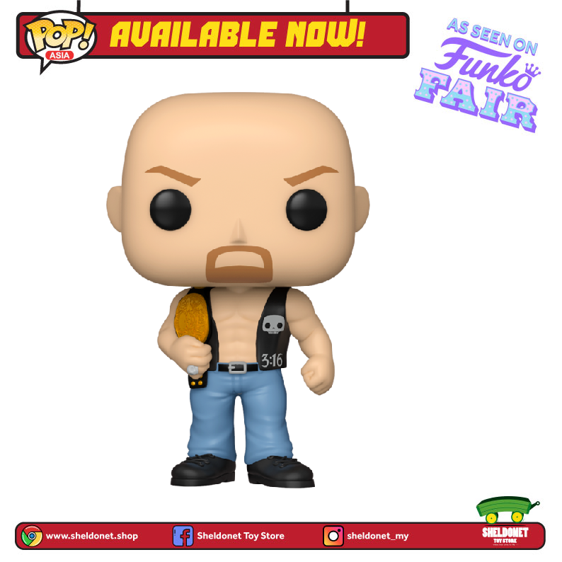Pop! WWE: Steve Austin with Belt - Sheldonet Toy Store