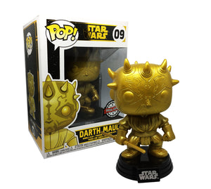 Pop! Star Wars: Darth Maul (Gold) [Exclusive] - Sheldonet Toy Store