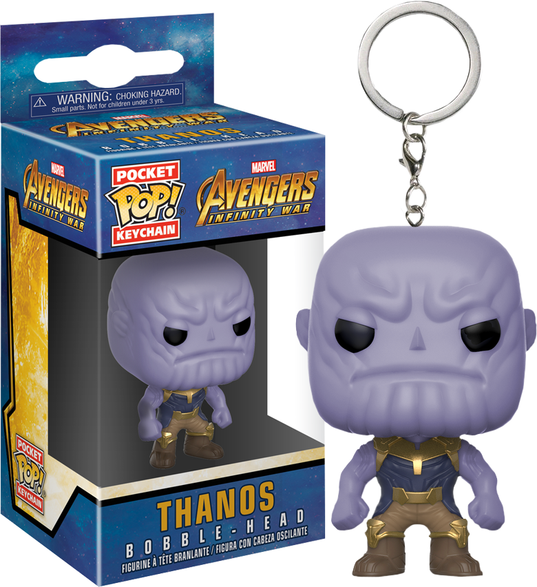 Pocket POP! Keychain : Marvel - Avengers Infinity War Thanos - Sheldonet Toy Store