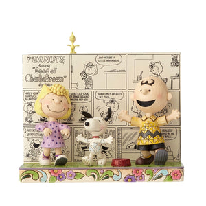 Enesco : Peanuts by Jim Shore - Happy Dance Classic Comic Book - Sheldonet Toy Store