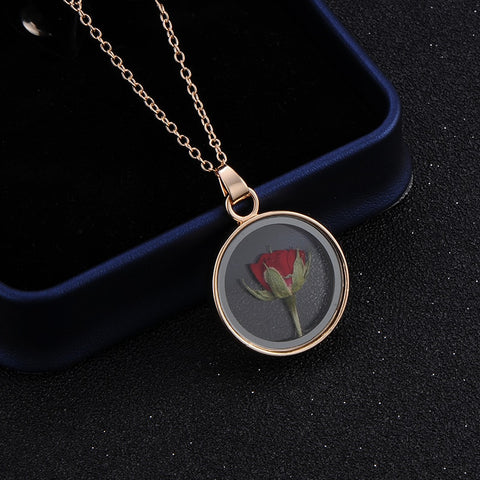 Dried Rose Glass Floating Lockets