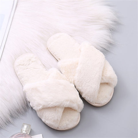 Female Faux Fur Slippers