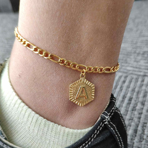 A-Z Letter Initial Anklets