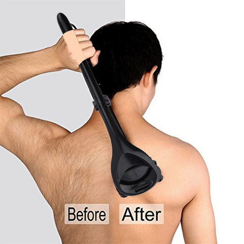 Men Back Shaver with Two Head Blades