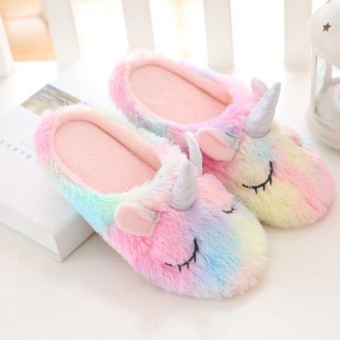 Unicorn Furry Slip