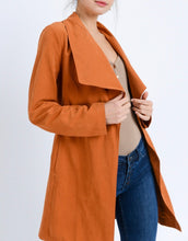 Load image into Gallery viewer, Collared Belted Trench Coat Jacket