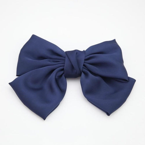 Blue Satin Oversized Bow