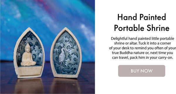 Hand Painted Portable Shrine I DharmaCrafts