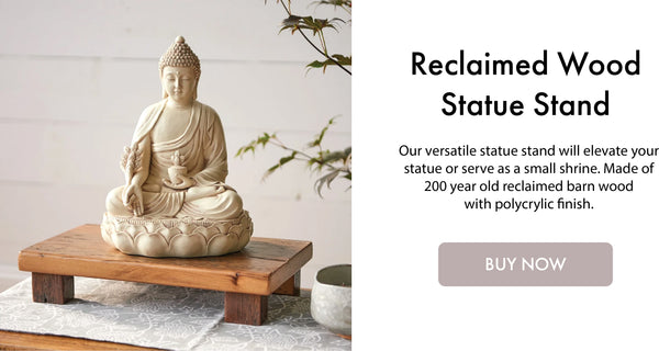 Reclaimed Wood Statue Stand I DharmaCrafts