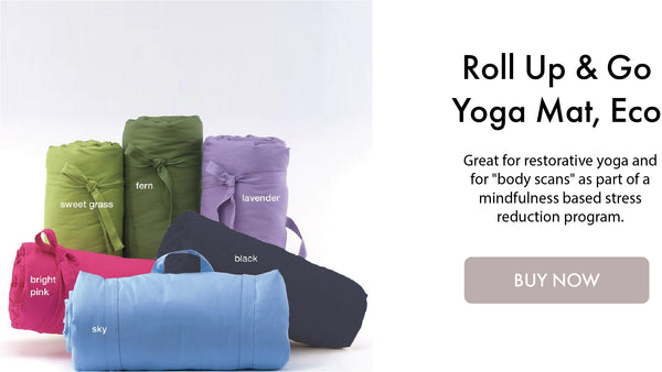 Roll Up & Go Yoga Mat, Eco I DharmaCrafts