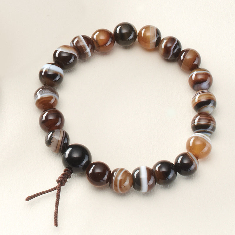 Banded Agate Stretchy Mala