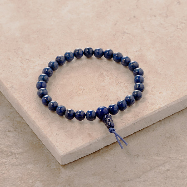 6mm Lapis Stretchy Mala