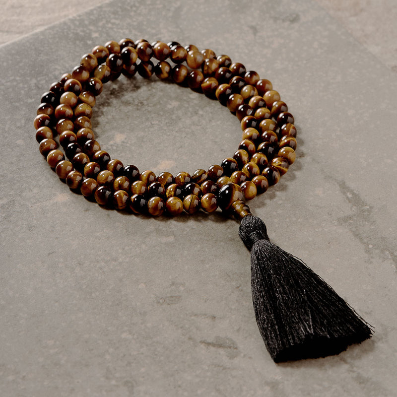 Tiger Eye, 6mm, 108 beads