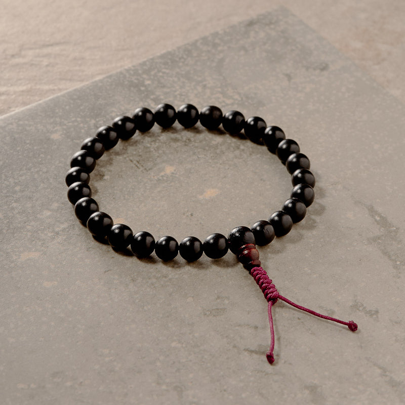 Dark Ebony Wood Hand Mala