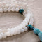 Moonstone Mala with Turquoise, 108 beads