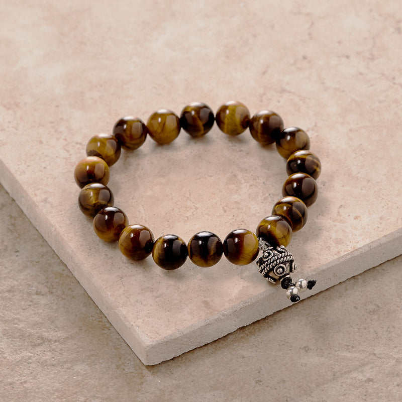 Tiger's Eye Stretchy Yoga Bracelet