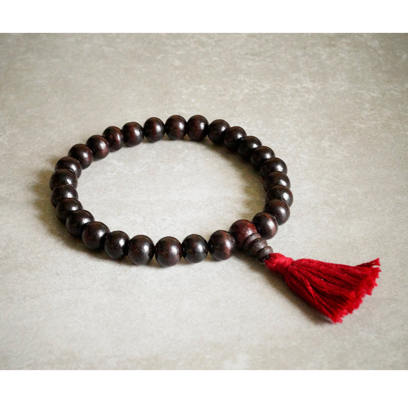 Rosewood Stretchy Practice Mala