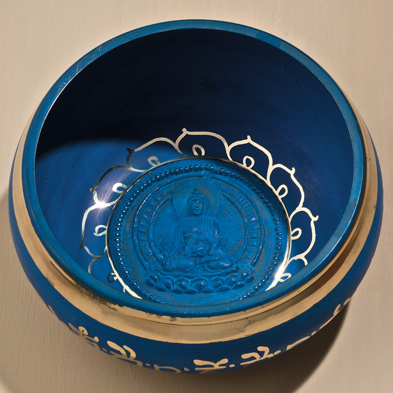 "Healing Buddha Singing Bowl, 6"" diameter"