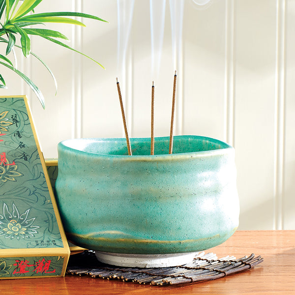 Uguisu Green Incense Bowl