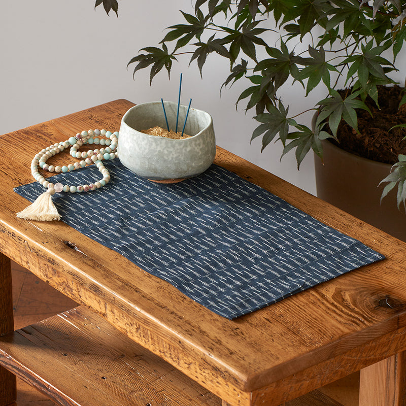 Ikat Altar Cloth, lines