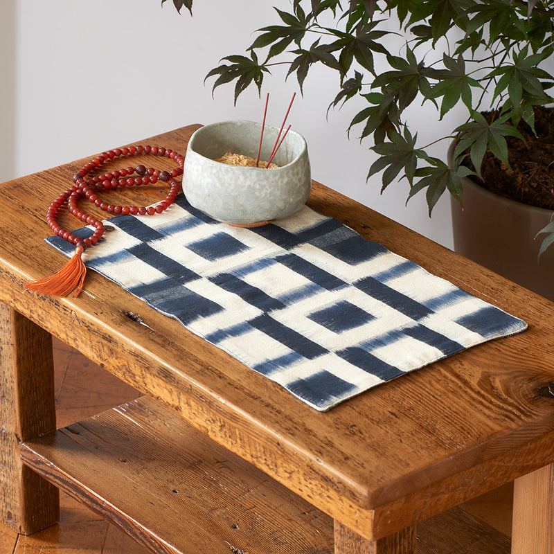 Ikat Altar Cloth, squares