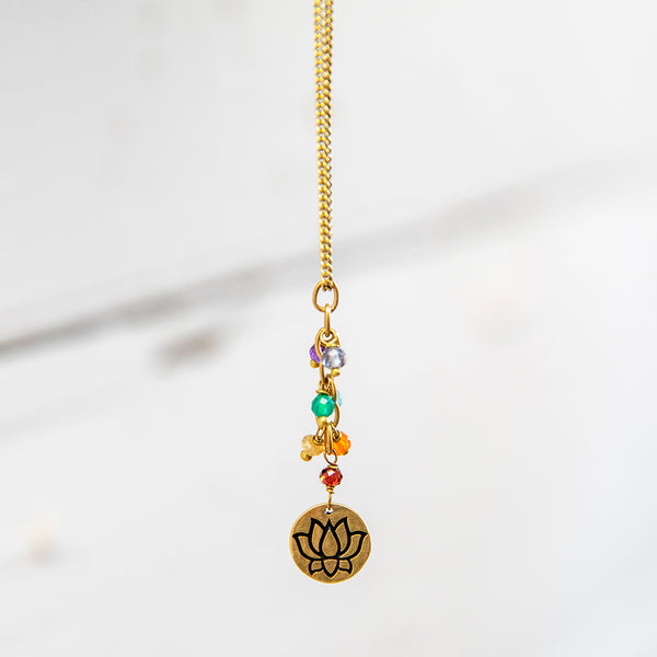 Brass Chakra Necklace with Pendant