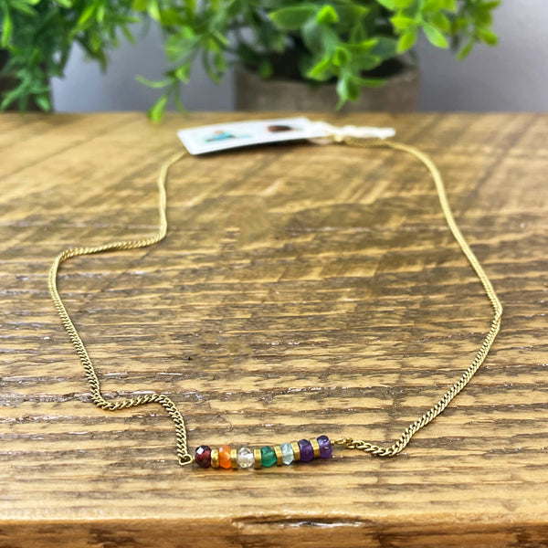 Delicate Beaded Chakra Necklace