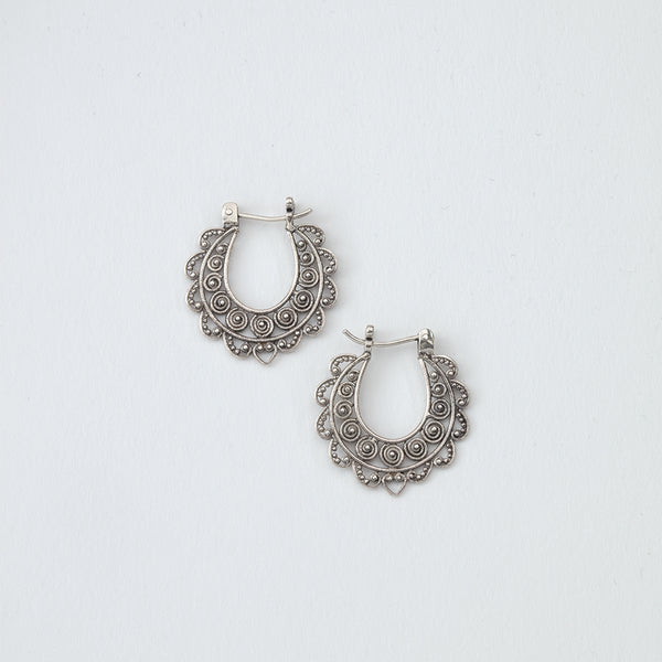 Small Swirly Hoop Earrings