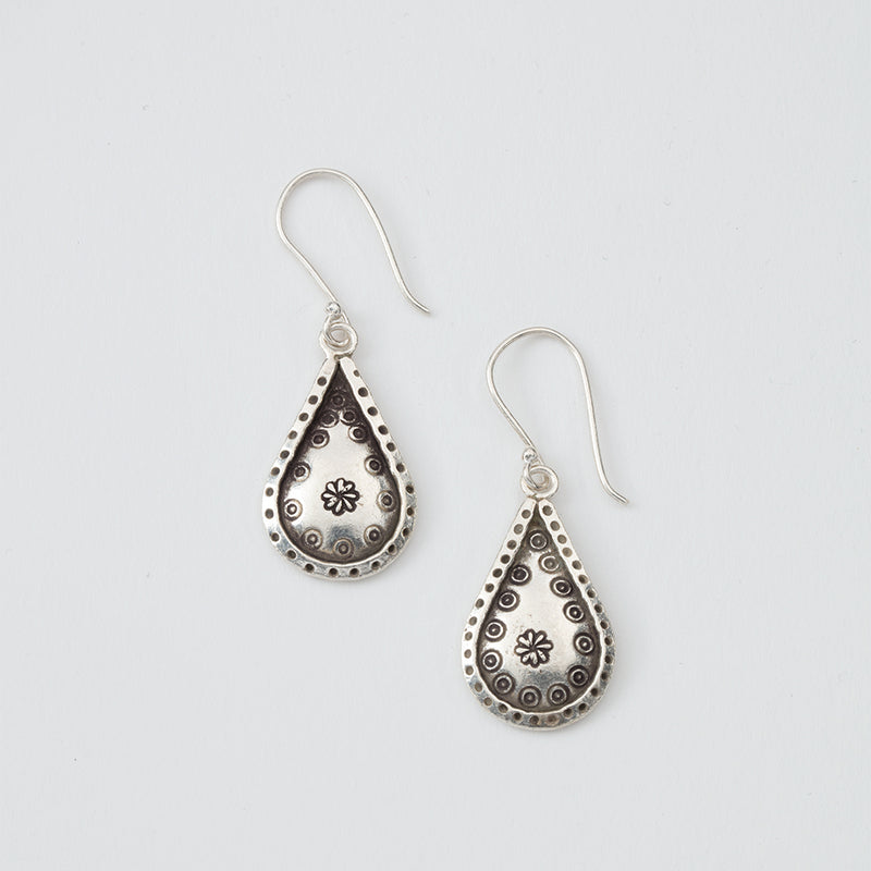 Teardrop Flower Earrings