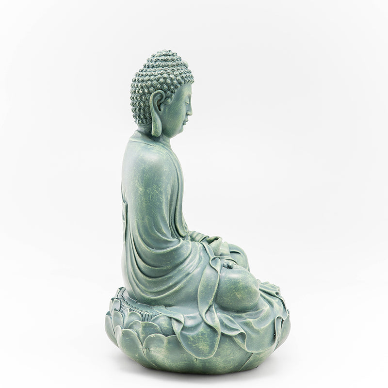 Buddha on Lotus Throne Statue, Green