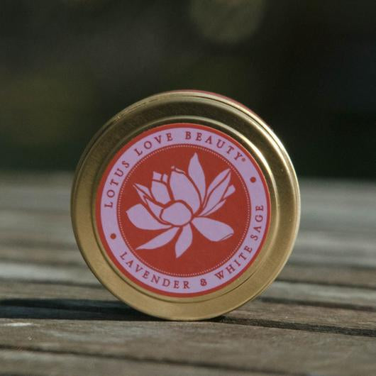 Lotus Love Tin Travel Candles