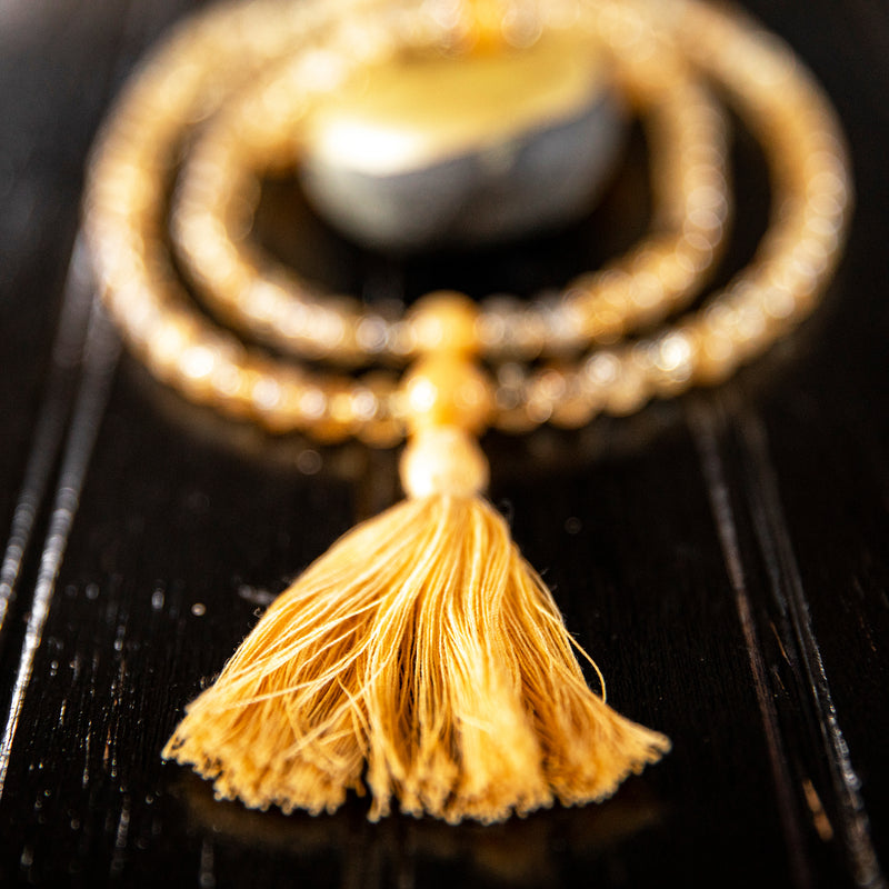 Citrine with Aragonite Mala