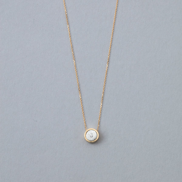 April Birthstone Necklace, 14k