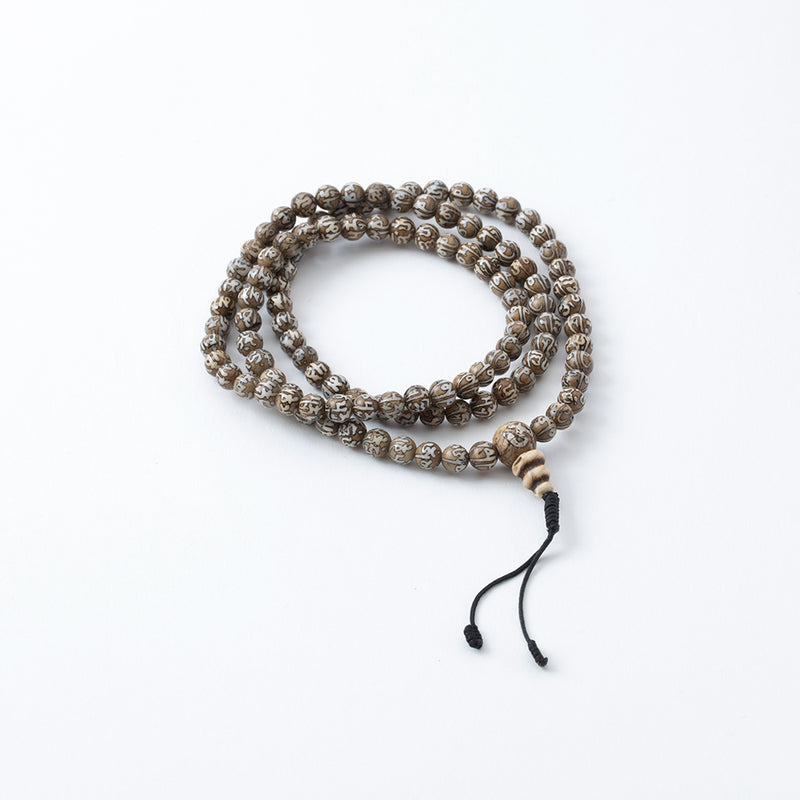Compassion Mantra and Protection Knot Tassel Mala, 108 Beads