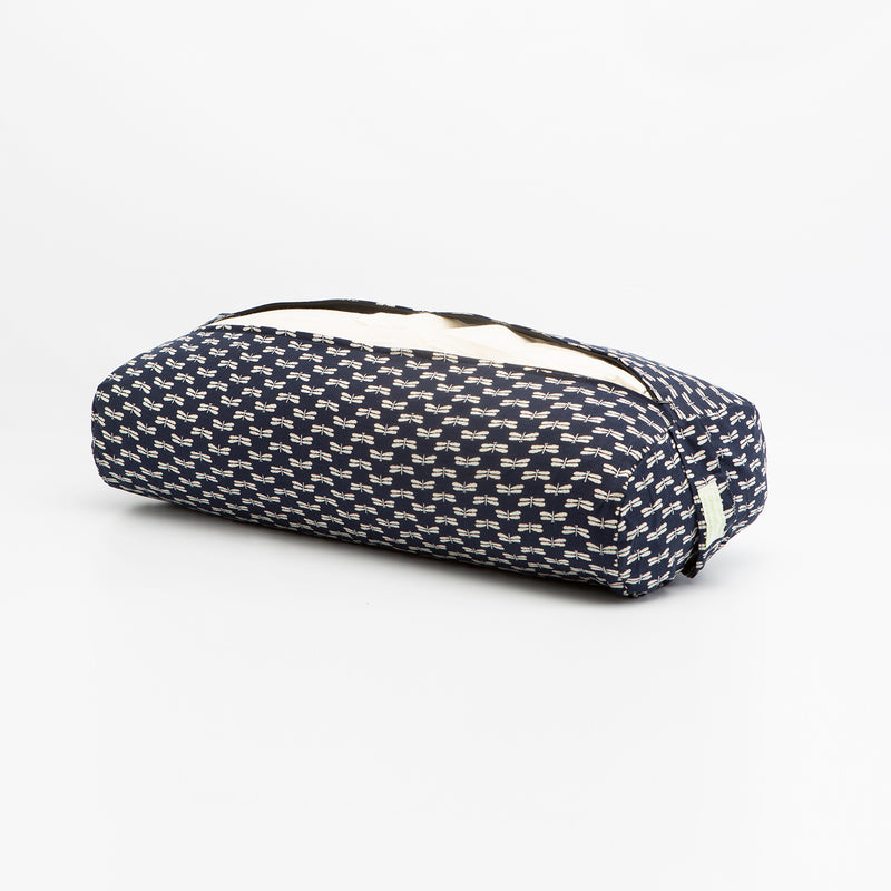 Navy Dragonfly Rectangular Bolster