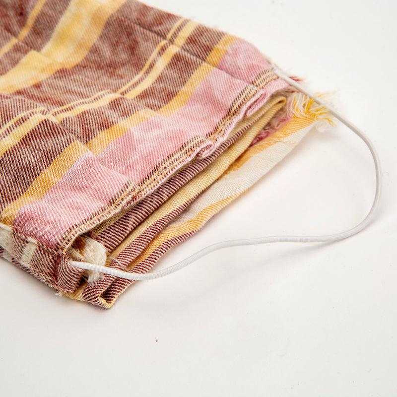 Pink Striped Reusable Cloth Face Mask