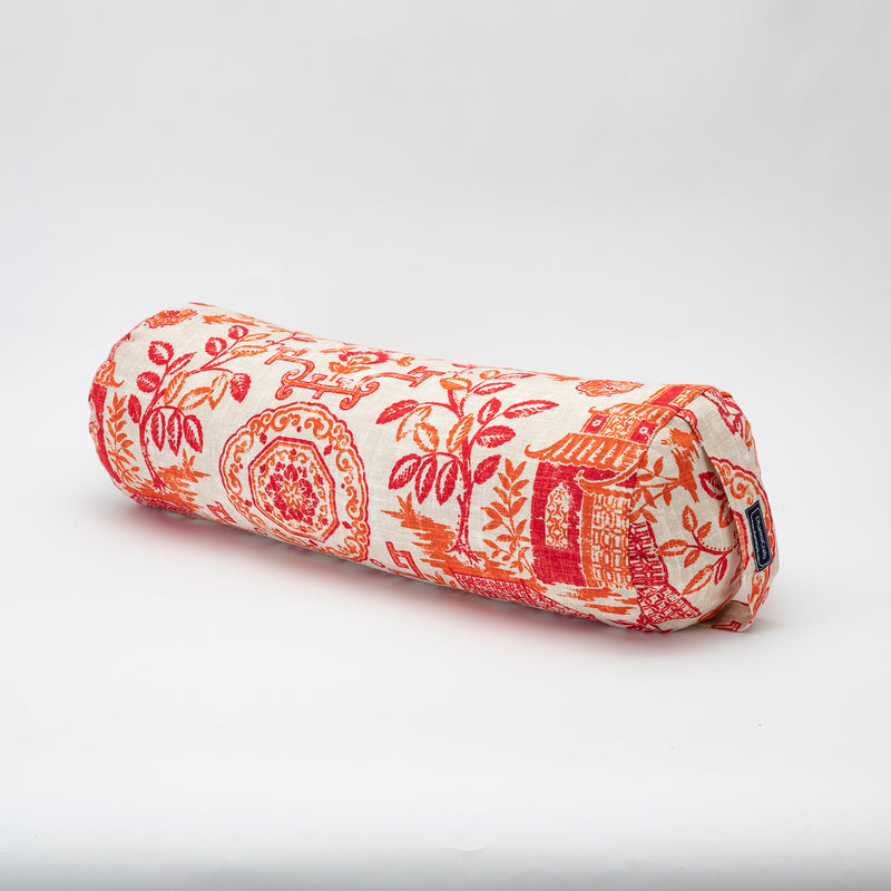 Teahouse Coral Round Bolster