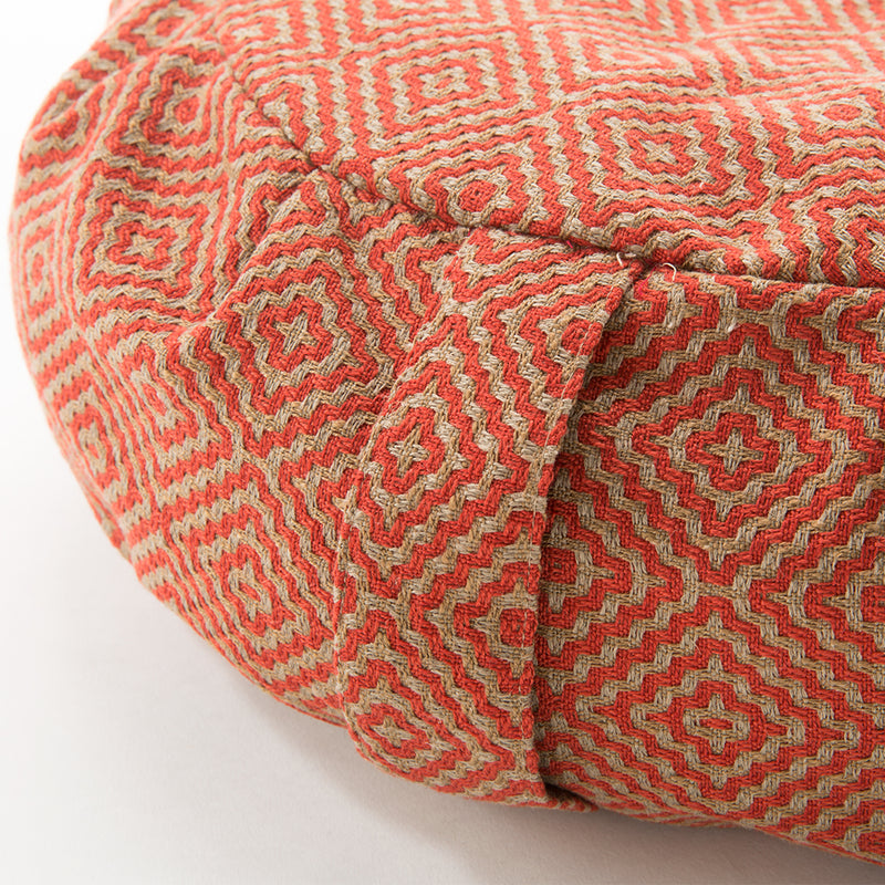 Geometric Buckwheat Hull Zafu