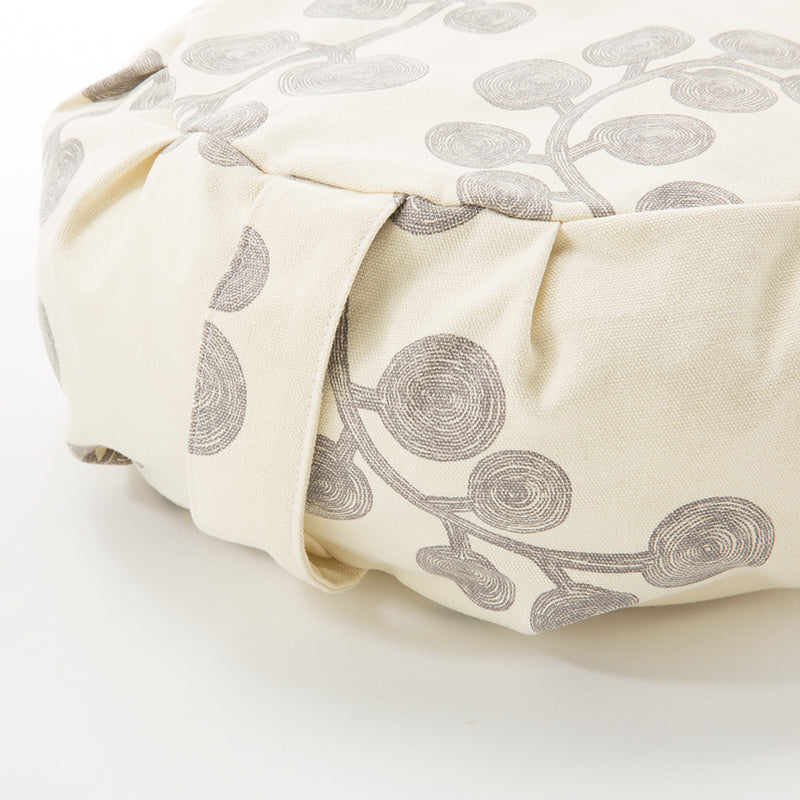 Botanical Print Buckwheat Hull Zafu