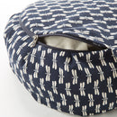 Navy Dragonfly Print Buckwheat Hull Zafu