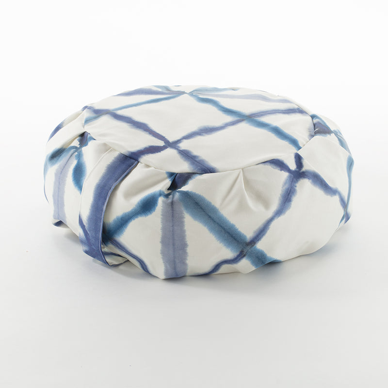 Blue Watercolor Geometric Zafu Zabuton Set