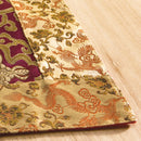 Tibetan Brocade Altar Cloth, Plum Gold