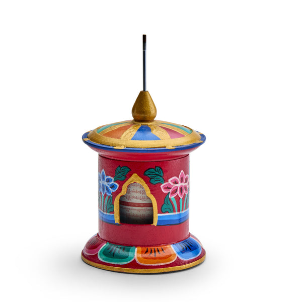 Hand Painted Prayer Wheel