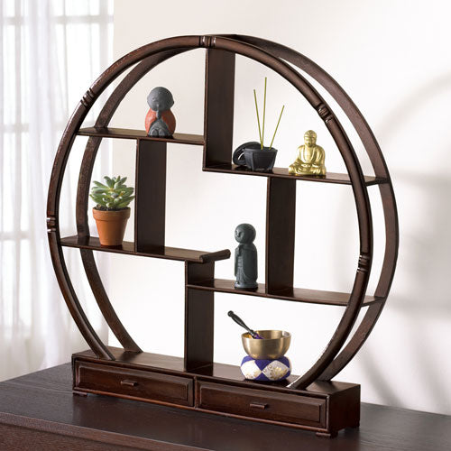 Wood Curio Stand