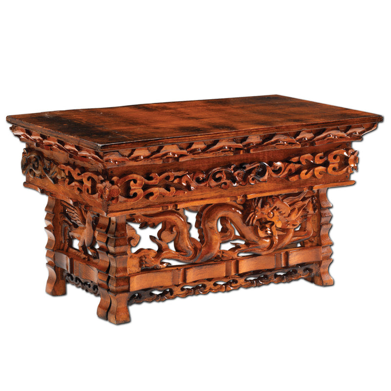 Hand Carved Dragon Altar Table