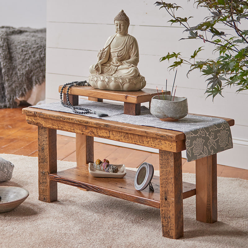 Reclaimed Wood Meditation Altar Table