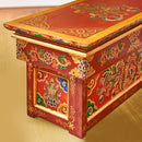 Hand Carved Tibetan Puja Meditation Shrine Table